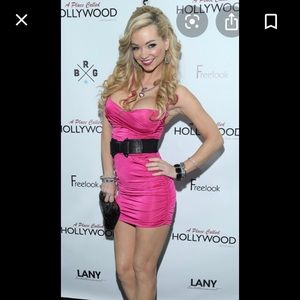 Dresses & Skirts - Sexy Hot Pink Ruched Dress from Red Carpet Event